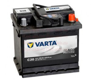 Varta Promotive Black 6СТ-55 R+ (555 064 042) обр. поляр4